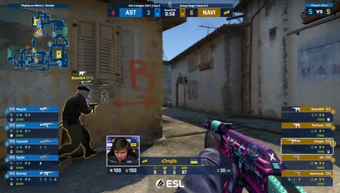 s1mple - ACE (with 1vs3 clutch)