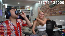 Mizkif drinking tequila