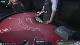 Jimmy wins the craziest hand of blackjack with some shared luck
