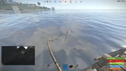 Guess he wanted to respawn? (naked suicide by guard while fishing)