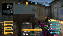 f0rest - 4 AK HS kills on the bombsite B offensive to secure the map victory for Dignitas
