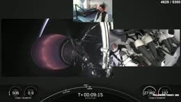 Streamer watches fake shuttle launch.