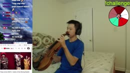 violin becomes a trumpet or saxophone