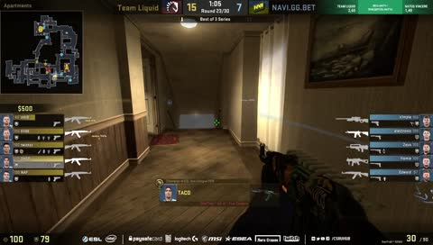 s1mple shuts down Liquid with a 3k (Inferno)