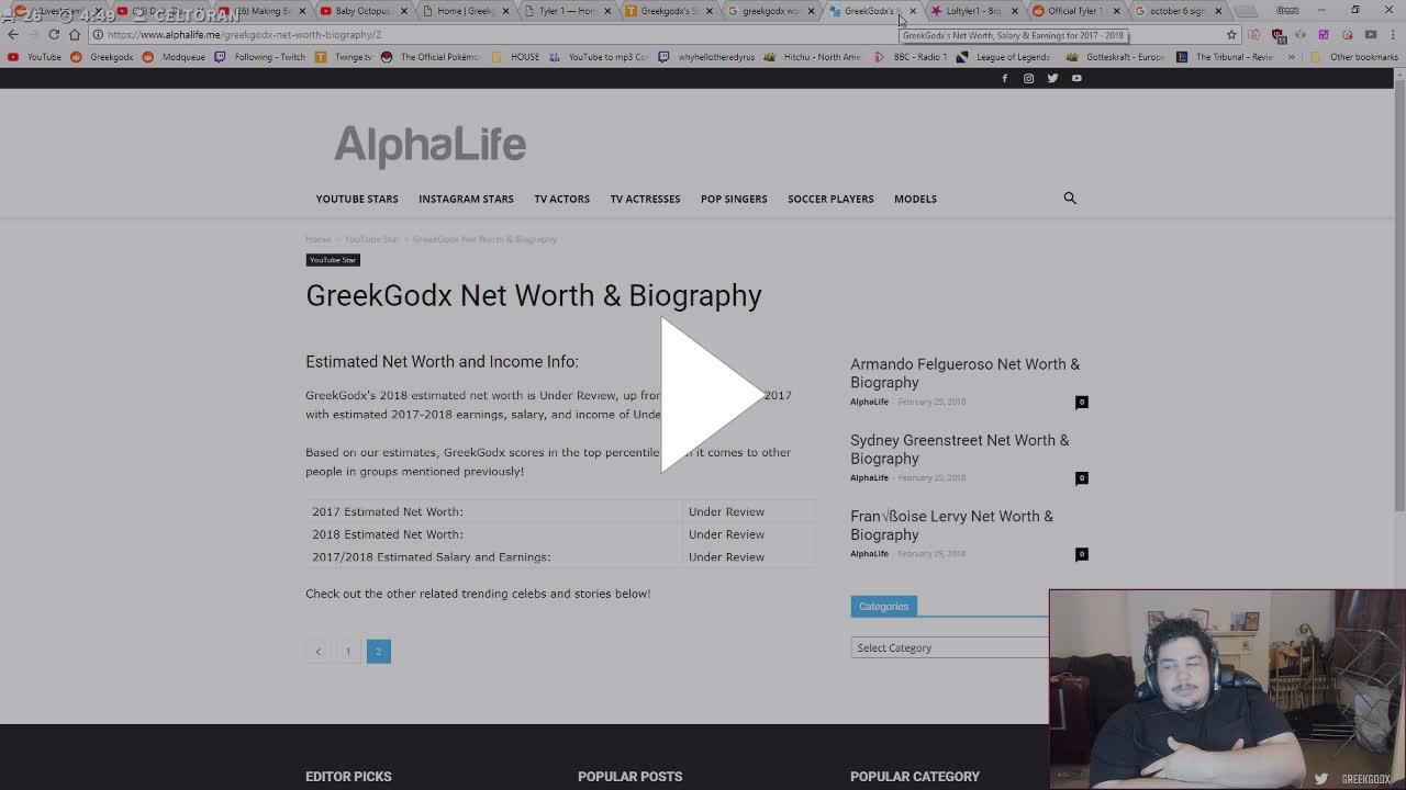 greekgodx net worth - Twitch