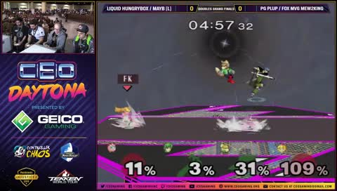 Mew2King gimps Hbox with Marth and wins the 1vs2!!!