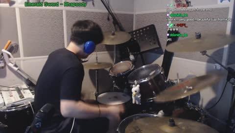 팔로우만하면 하는 혜자 리액션 에메랄드소드 드럼 연주