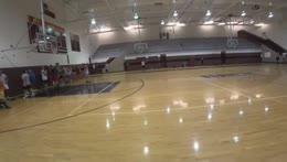 Soda Falling in Basketball practice