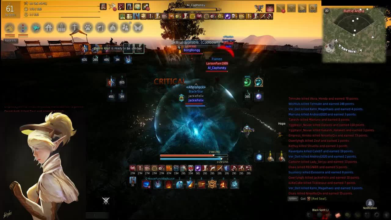 1V1 Wizard exciting PvP : blackdesertonline
