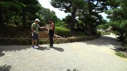 Old Japanese guy helps a bug fly again