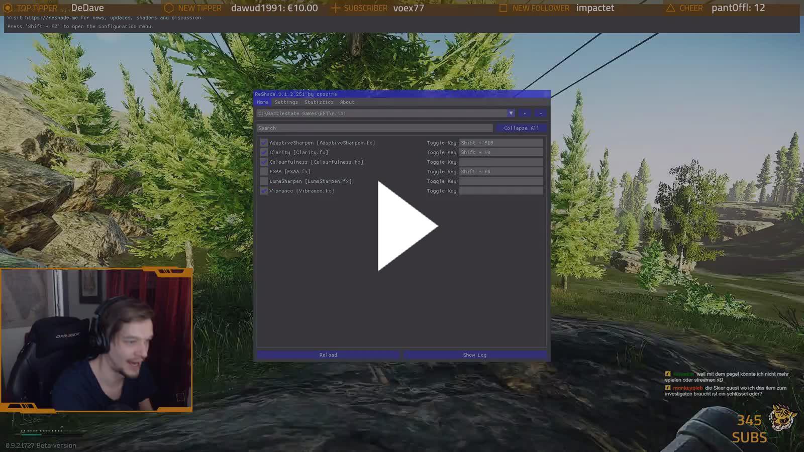 SkaavTV - reshade settings - Twitch