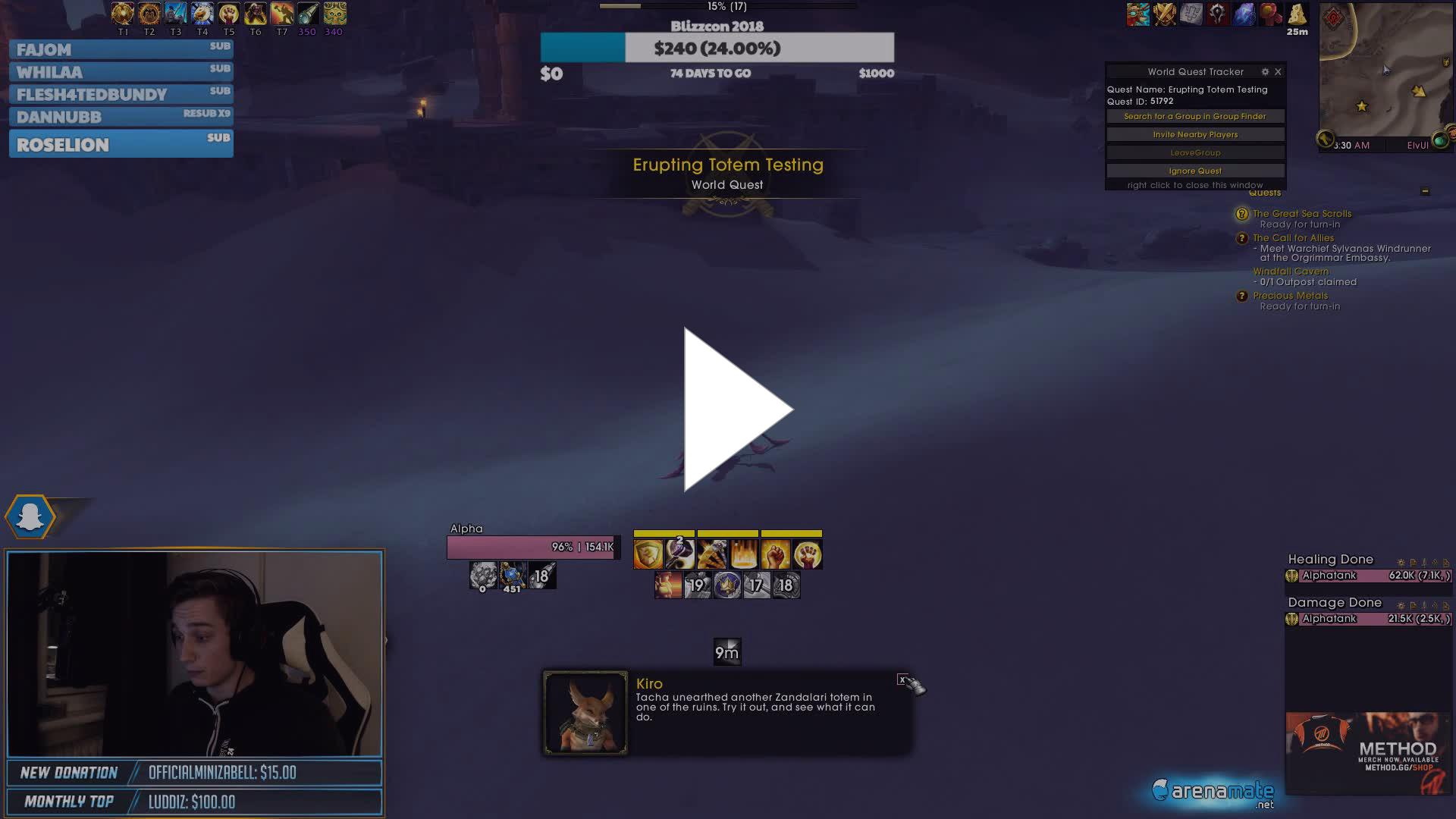 Naowh - Prot Warriors in BFA - Twitch