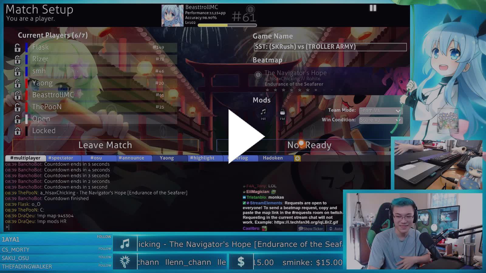 BeasttrollMC - Beast cheating on Noel  (Look at TV) - Twitch