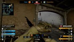 NikkeZ - 3 AK kills on the bombsite A bomb plant defense (2vs3 situation)