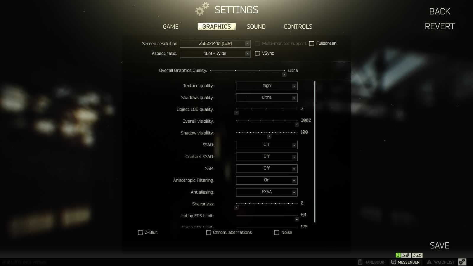 EFT 0 10 Settings - Twitch