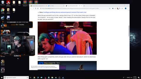 Summit reacts to Ninja reacting to Summit Fortnite skin