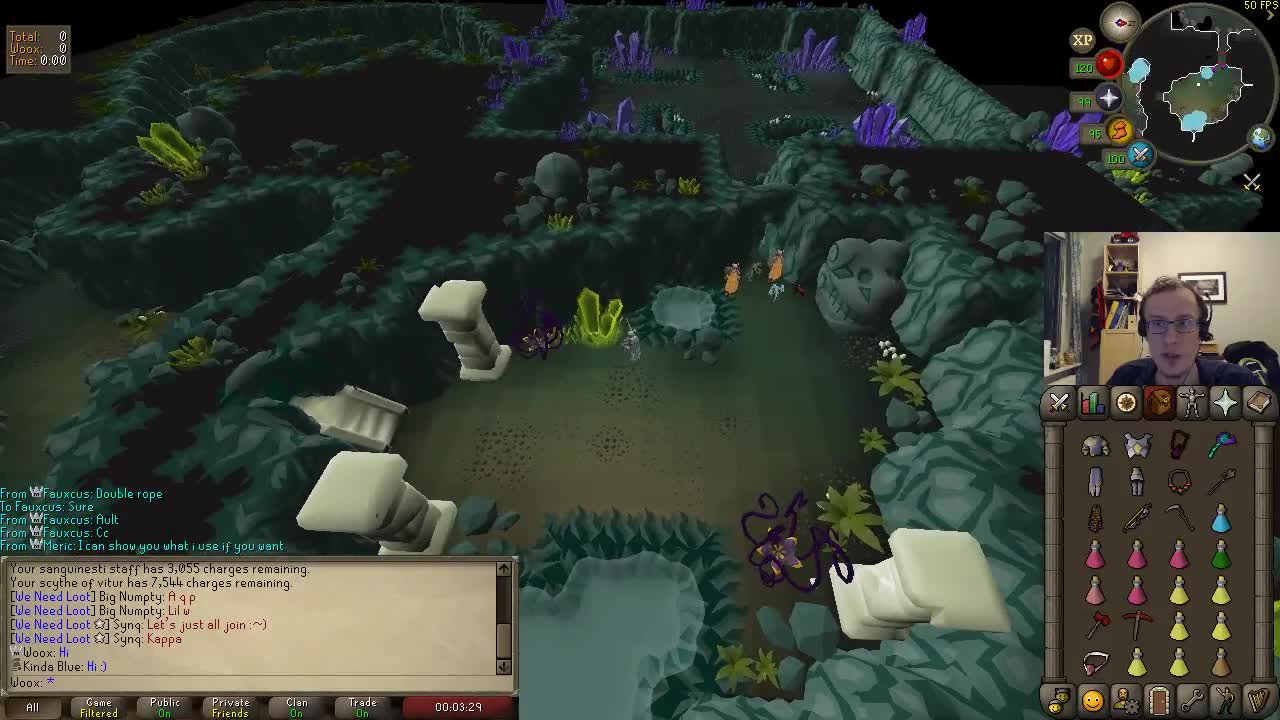Woox Tests Out New Runelite GPU Plugin At CoX : 2007scape