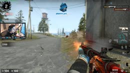 Shroud first win in CSGO BR