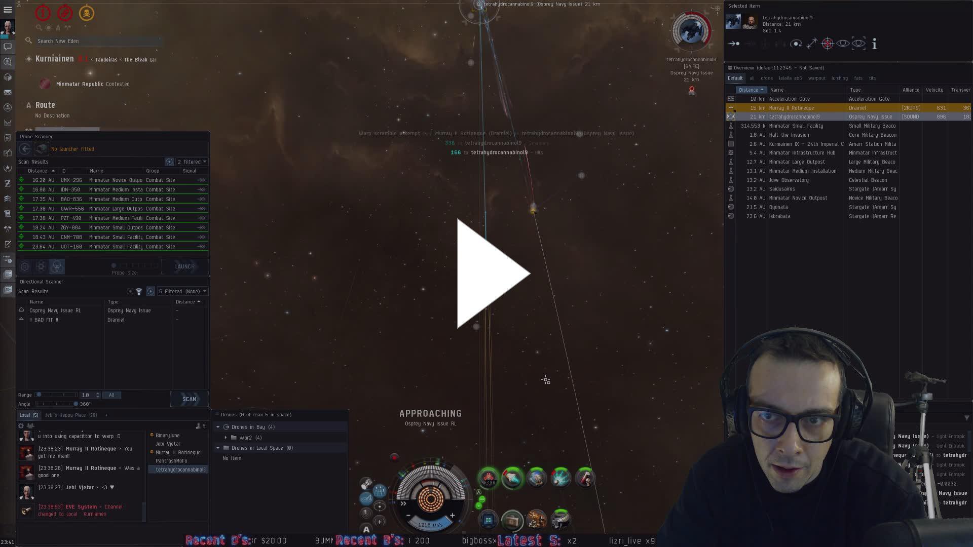 Evelog Oof Kiki And Dramiel Kill Osprey And Barely Escape Twitch