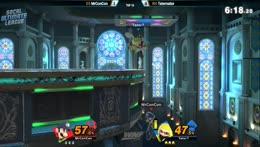 Luigi punish for Inkling Side-B