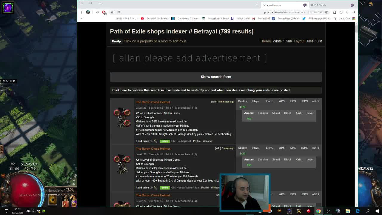 MosesPlays - weapon DPS - Twitch