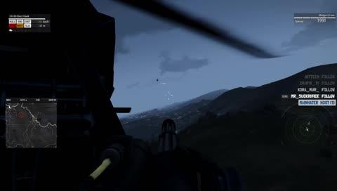 зависание вертолета