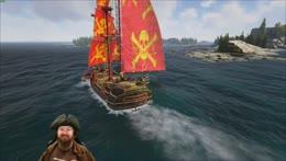 Burke's Grand Approach to the recruiting docks | Atlas PVP NA Kraken