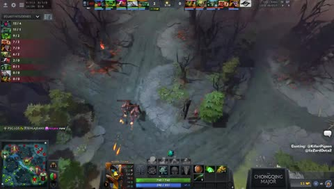 Puppey fighting for Dendi