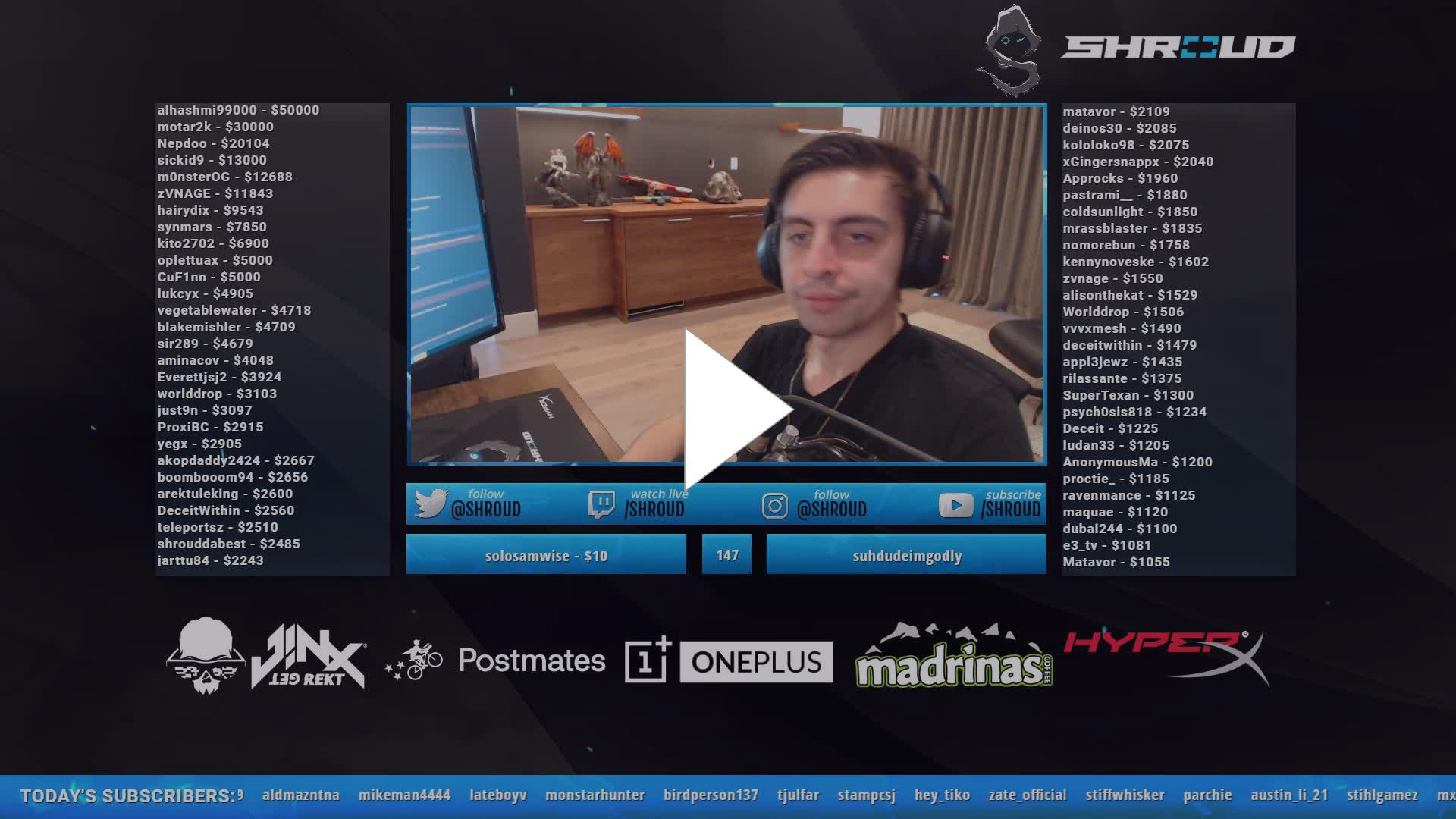 shroud - Gotta google that word - Twitch