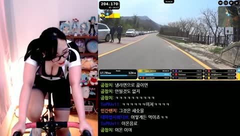 가상 라이딩 17km 완주!(feat. rouvy)