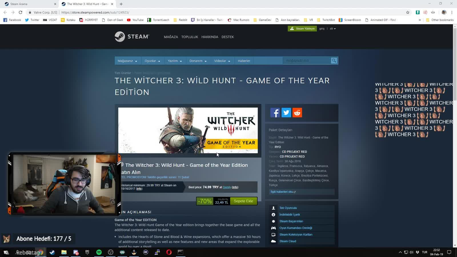 Videoyun - Wiçır 3 Övüldü - Twitch