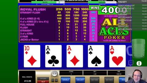 Winning a grand on video poker
