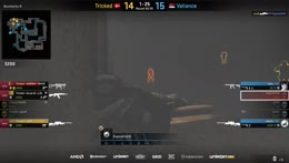 ottoNd - 1vs2 AWP clutch (CT - post-plant situation) to secure the match victory for Valiance