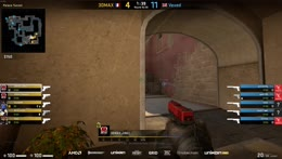 Maka - 3 HS kills (Glock, 2 USP-S) on the site A bomb plant defense (2vs3 - 2nd half pistol round)