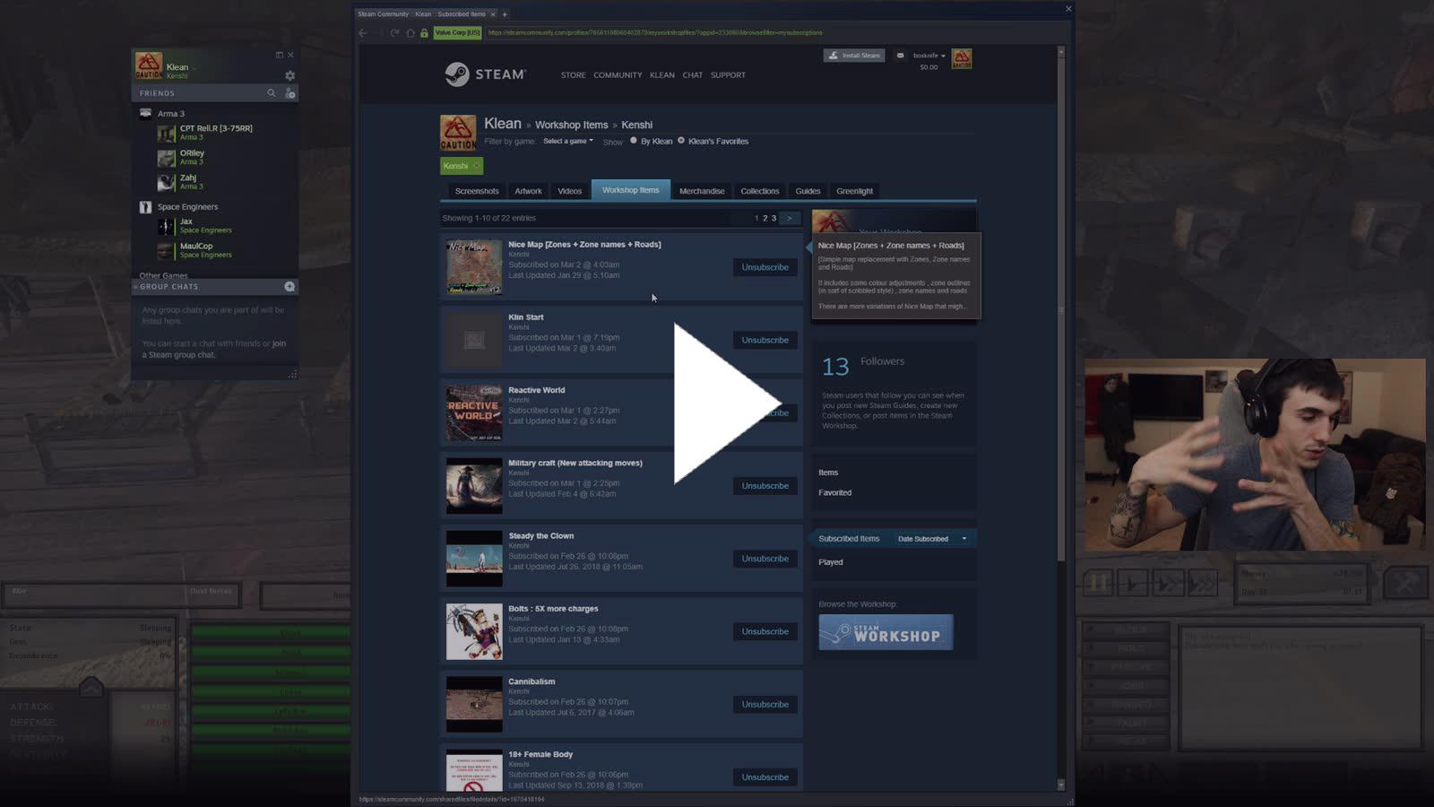 Klean Kenshi mods - Twitch
