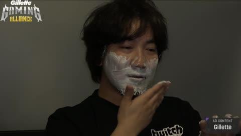 Daigo shaves on stream