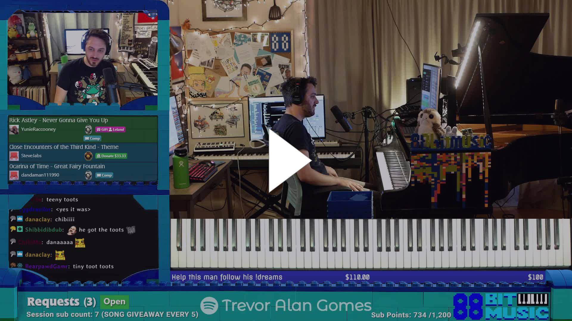 88bitmusic - Proper Rickrolling - Twitch