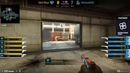 Dash with ace with lock down the pistol round for Venture on Cache agaist Tahit Blue!