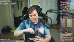 Gamer gets excited about blending GFuel!