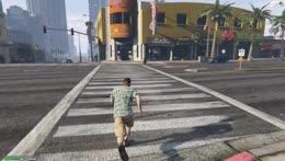Buck Gilbert's first attempt at crossing a street