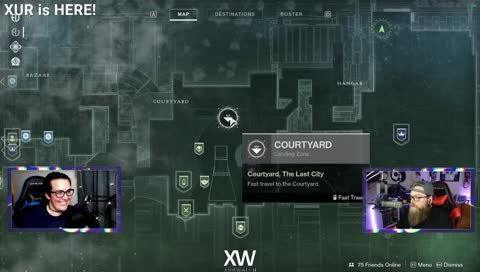 Xur is in the tower 4/12/19