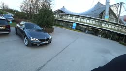 Jake flexing in germany with new car