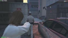 Jesus steals a police cruiser