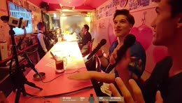 Hitch & Eric_abroad - Country Road karaoke duet