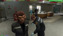OTT tazed then has to pee in the hospital plant.