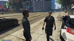 Nino pulling over a cop