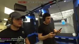 Xqc, Mizkif, Erobb first Gun Range Experience