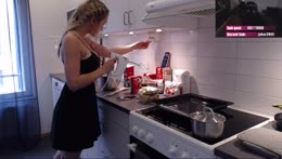 Baking summer cakes. <3 Mixing in a Little Black Dress