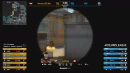 XANTARES - 3 Five Seven kills on the bombsite B defense
