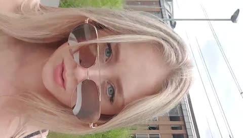 女實況kandyland完美的太陽眼鏡反射